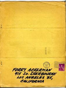 Sky Bird #2 1961-early fanzine-Forrest J Ackerman copy-Secret Origins-FN