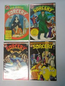Red Circle Sorcery lot 4 different issues avg 4.0 VG (1974 Red Circle)
