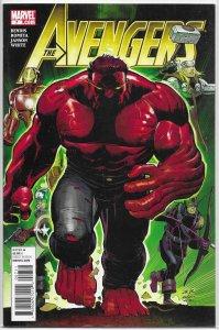 Avengers (vol. 4, 2010) #  7 FN Bendis/Romita Jr., Red Hulk