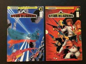 Lot of 2-Comico STAR BLAZERS #3 & #4 1987 NEAR MINT (PF978)