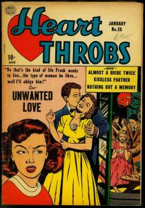 Heart Throbs #26 1954-Quality Golden Age Romance- Spicy Party VG