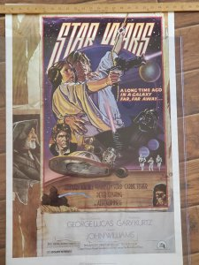 Vintage 1982 Star Wars Fan Club Reprint Poster New Hope Style D 22x34