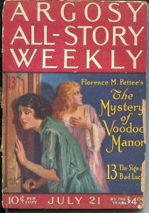 Argosy All-Star Weekly 7/21/1923-pulp thrills-Murray Leinster-Voodoo-P