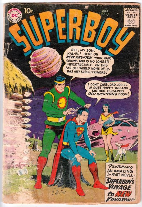 Superboy #74 (Jul-59) GD- Low-Grade Superboy