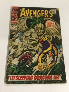 Avengers 41 Gd Good 2.0 Water Damage Marvel Silver Age