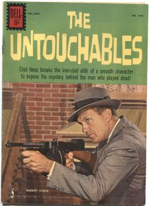 UNTOUCHABLES #1286-ROBERT STACK TV SERIES PHOTO COVER-DELL FOUR COLOR-RARE