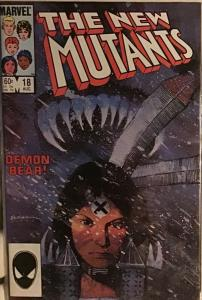 NEW MUTANTS #18 1ST APP WARLOCK, DEMON BEAR MARVEL 1984