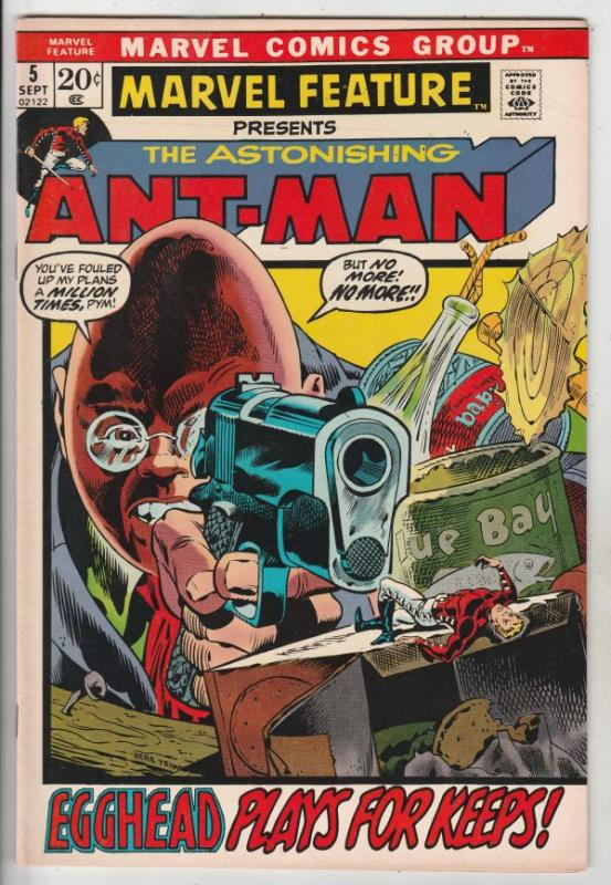 Marvel Feature presents Ant-Man, The Astonishing #5 (Sep-72) VF/NM- High-Grad...