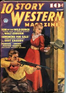10 STORY WESTERN-OCT 1936-GOOD GIRL ART CVR-WALT COBURN-LUKE SHORT-PULP