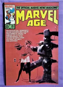 Dazzler MARVEL AGE #28 Bill Sienkiewicz The New Mutants (Marvel, 1985)!