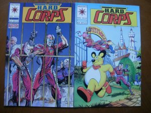 2 Valiant THE HARD CORPS Comic #15 #16 (1994) Midnight's Choice Mangy Mouse