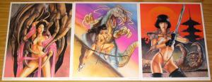 Jade Warriors: A Portfolio by Hector Gomez VF/NM sqp 1994 set of 6 prints