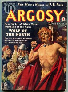 Argosy Pulp July 20 1940- Viking cover- Wolf of the North FN
