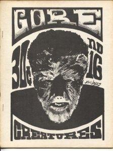 Gore Creatures #16 1969-early horror movie fanzine-H.P. Lovecraft-FN