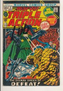 Marvel Triple Action #5 20 cents G/VG (3.0) Fantastic Four Silver S (213J)