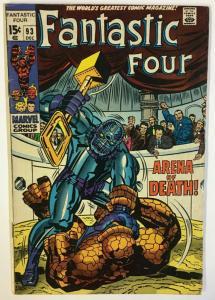 FANTASTIC FOUR 93 VG-F December, 1969