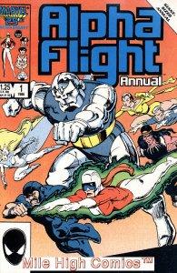 ALPHA FLIGHT ANNUAL (1986 Series) #1 Very Fine Comics Book