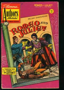 FAMOUS AUTHORS ILLUSTRATED #10-ROMEO & JULIET-1950 VG