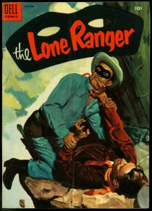 THE LONE RANGER #78-1954-DELL-TONTO-SILVER-SILVER BULLET-FIGHTCOVER-vg