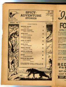 Spicy Adventure Stories Pulp January 1936- coverless reading copy