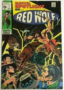 MARVEL SPOTLIGHT#1 FN/VF 1971 RED WOLF  BRONZE AGE COMICS