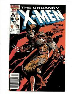 Uncanny X-Men # 212 NM- Marvel Comic Book Wolverine Wendigo Storm Cyclops DS4