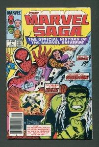 Marvel Saga #2 / 9.2 NM  Newsstand  January 1986