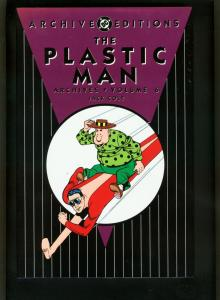 PLASTIC MAN ARCHIVES vol 6-HARDCOVER-COLOR REPRINTS-JACK COLE-POLICE COMICS NM