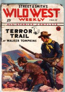 WILD WEST WEEKLY-2/24/1934-PULP-TERROR TRAIL FR/G