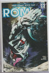 ROM #0  - FREE COMIC BOOK DAY - IDW - BAGGED,& BOARDED