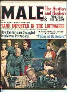 Male Magazine February 1966- Nazi cover, Kunstler- J Edgar Hoover VG