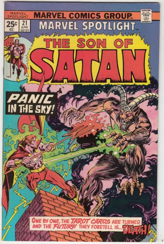 Marvel Spotlight on Son of Satan #21 (Apr-75) NM- High-Grade Son of Satan (Da...