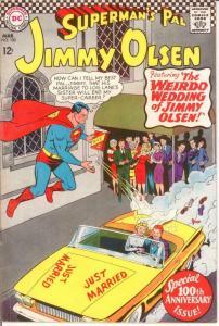 JIMMY OLSEN 100 VG+ LEGION CAMEO Mar. 1967 COMICS BOOK
