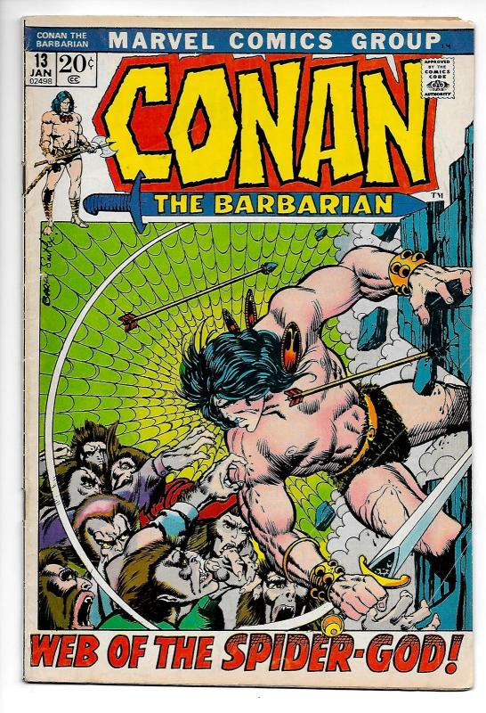Conan the Barbarian #13 (Marvel, 1972) VG/FN