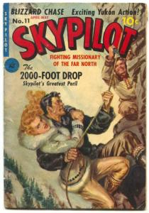 Skypilot #11 1951- Saunders painted cover- Rare comic VG