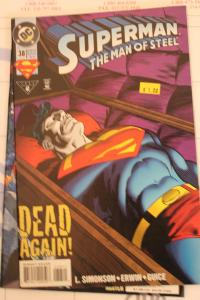 Superman the Man of Steel 38 NM