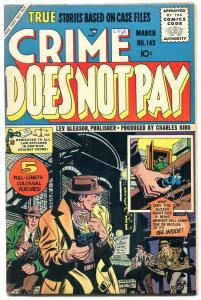 Crime Does Not Pay #143 1955-1st Code issue- Kubert cover VF