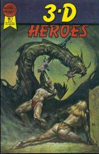 3-D HEROES #1, VF+, BlackThorne, 1986, No Glasses more Indies in store