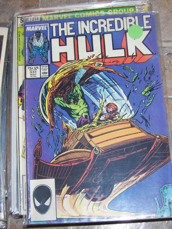 Incredible Hulk  # 331 1987  marvel   mcfarlane +1ST NEW GRAY HULK+ JOE FIXIT