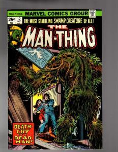 MAN THING (1974) 12 FINE MINUS Dec. 1974