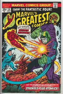 Marvel's Greatest Comics #58 (Sep-75) VF/NM+ High-Grade Fantastic Four, Mr. F...