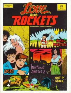 Love And Rockets #4 VF; Fantagraphics | save on shipping - details inside