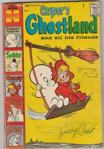 Casper's Ghostland #1 (Dec-58) GD/VG Affordable-Grade Casper, Spooky