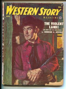 Western Story 4/953- Popular-Elmore Leonard pulp story-VG-