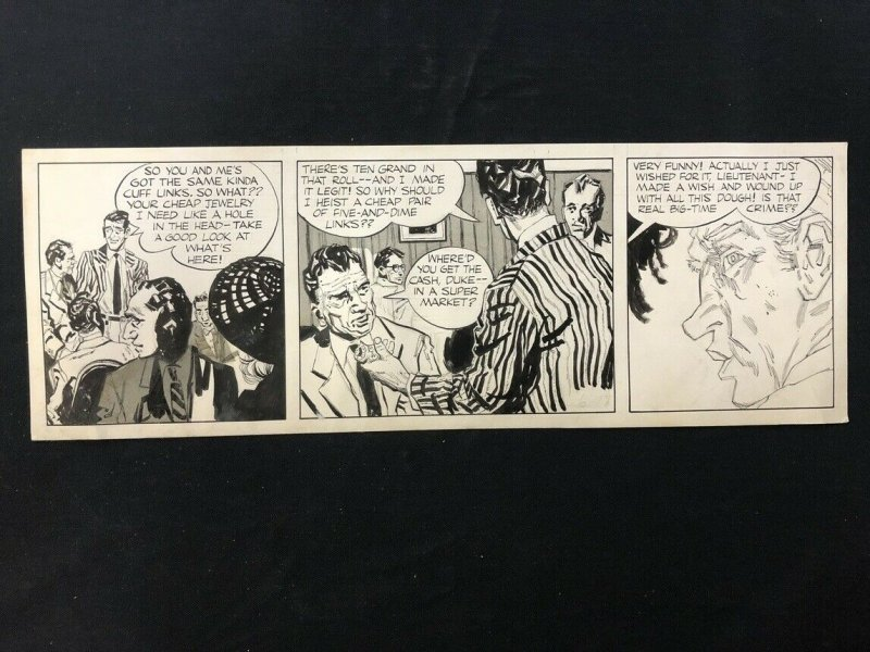 Unpublished Daily Newspaper Comic Strip Art Detective Mystery