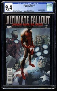Ultimate Fallout #4 CGC NM 9.4 White Pages 1st Miles Morales!