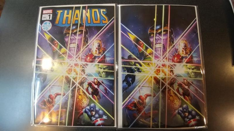 THANOS #1 CLAYTON CRAIN VIRGIN VARIANT SET MARVEL W/COA