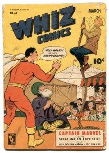 Whiz Comics #63 1945- CAPTAIN MARVEL- Golden Age FR