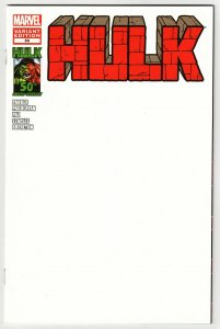 Hulk #50 Blank Sketch Variant Cvr (Marvel, 2012) NM