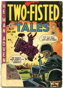 TWO-FISTED TALES #21 1951-JEEP EXPLOSION CVR-EC Golden Age G